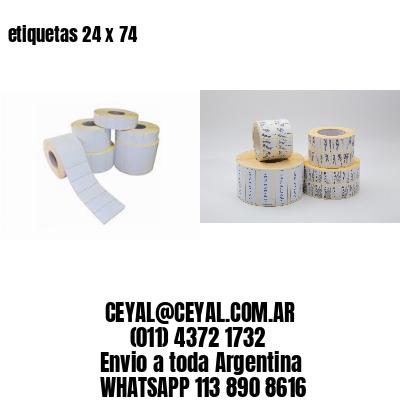 etiquetas 24 x 74