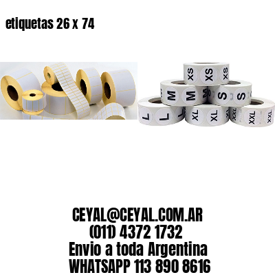etiquetas 26 x 74