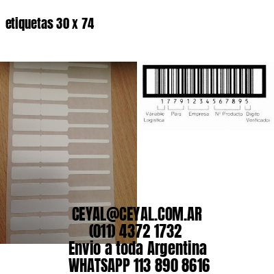 etiquetas 30 x 74
