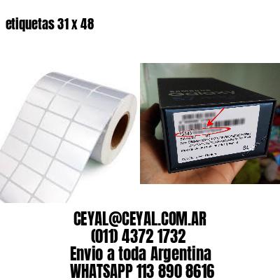 etiquetas 31 x 48