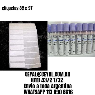 etiquetas 32 x 97
