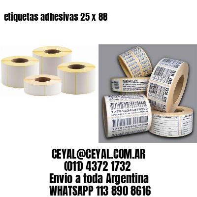 etiquetas adhesivas 25 x 88