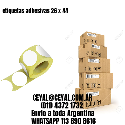 etiquetas adhesivas 26 x 44