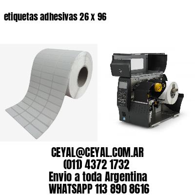 etiquetas adhesivas 26 x 96