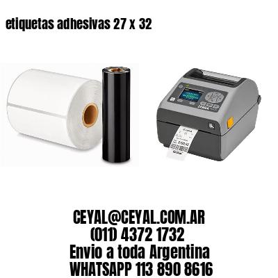 etiquetas adhesivas 27 x 32