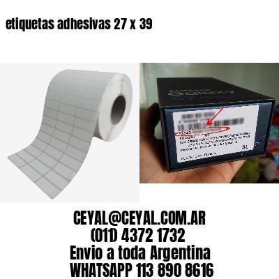 etiquetas adhesivas 27 x 39