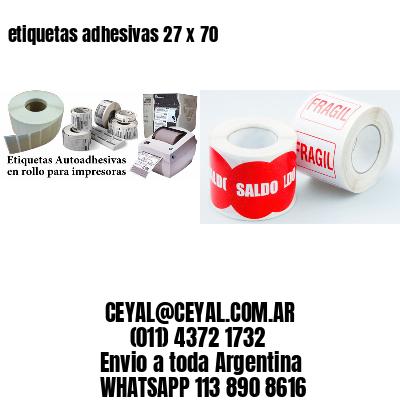 etiquetas adhesivas 27 x 70