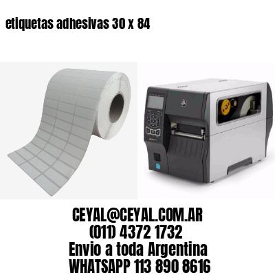 etiquetas adhesivas 30 x 84
