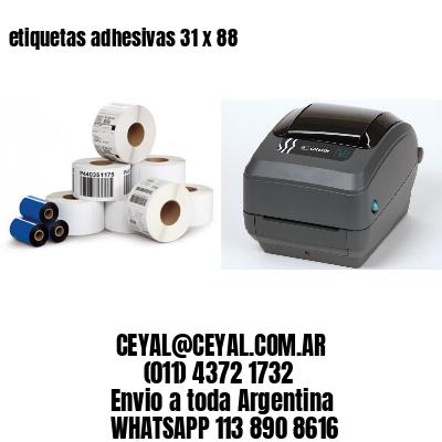 etiquetas adhesivas 31 x 88
