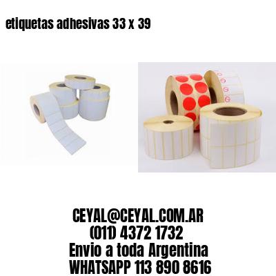etiquetas adhesivas 33 x 39
