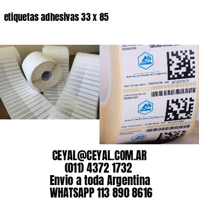 etiquetas adhesivas 33 x 85