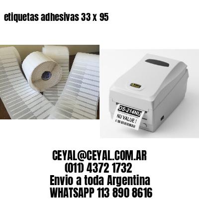 etiquetas adhesivas 33 x 95