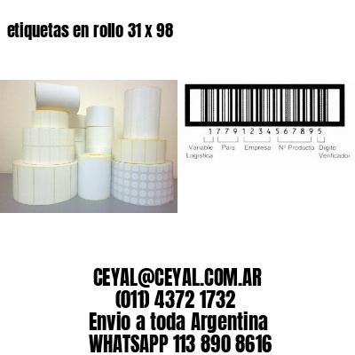 etiquetas en rollo 31 x 98