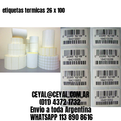 etiquetas termicas 26 x 100
