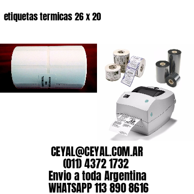 etiquetas termicas 26 x 20