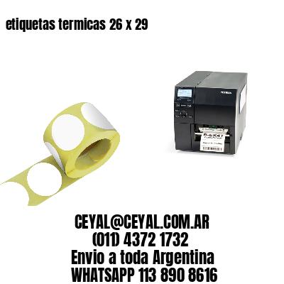etiquetas termicas 26 x 29