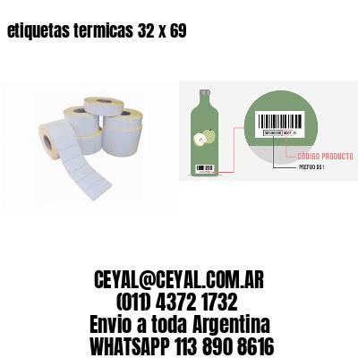 etiquetas termicas 32 x 69