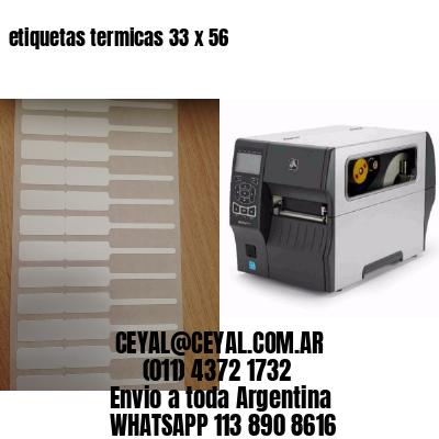 etiquetas termicas 33 x 56